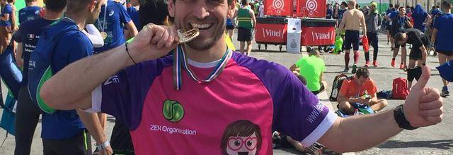 Le parrain de Marcia au marathon de Paris