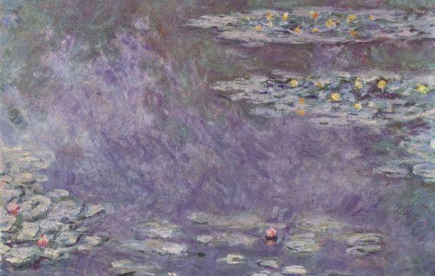 Claude Monet. Seerosenteich.1908, Öl auf Leinwand, 90 × 92cm.St. Gallen (Schweiz), Privatsammlung.Frankreich.Impressionismus. KO 00632