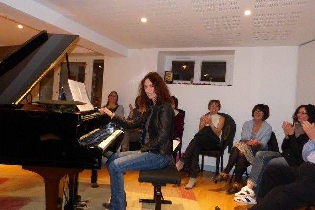 Un bon moment musical tous ensemble réunis en Décembre 2016 à l'Académie