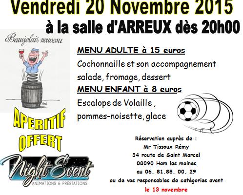 Soirée Beaujolais 2015 de l'ASTRM - 20/11/2015