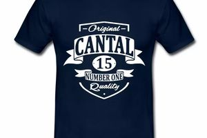 T Shirt Auvergne Original Cantal 15 Number One HBM
