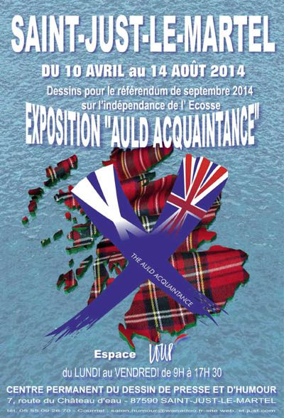 """The Auld Acquaintance"" : exposition de dessins de presse à St Just Le Martel"