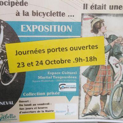 Visite de l'exposition du vélo à Bonneval. 2021