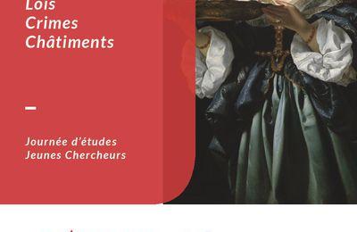 Lois, crimes, châtiments : une journée d'étude des jeunes chercheurs de l'IRHIS le 12 février à l'Université de Lille