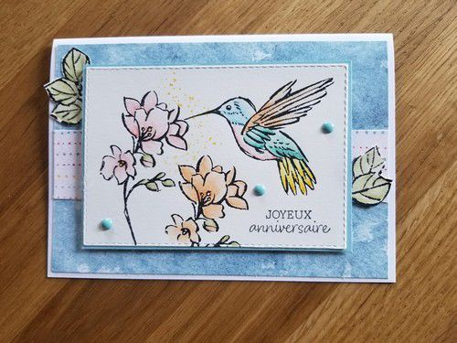 une touche d'encre Stampin'up! #stampinup #stampinupcartescrap #cartestampinupunetouchedencre