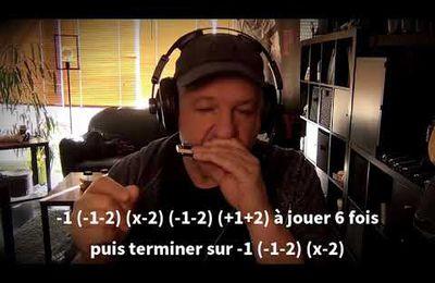 Plan en tongue blocking sur les deux premiers trous de votre harmonica - Harmonica G
