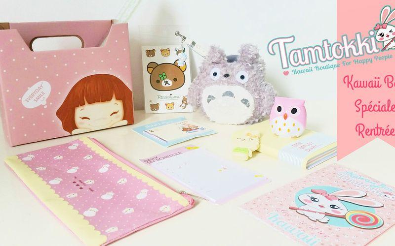 Tamtokki Kawaii Box Spéciale Rentrée ~ Papeterie Cute