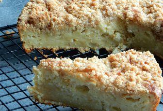 Gâteau crumble aux pommes râpées