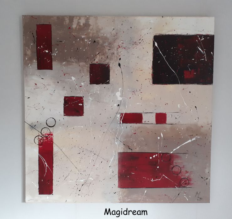 ABSTRACTION   80€  80 X 80 cm