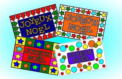 Cartes de Noël à colorier Niveau 1