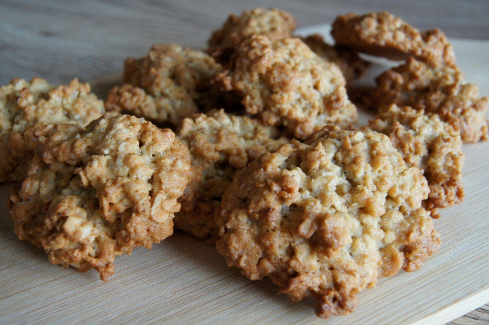 Petits biscuits gourmands aux flocons d'avoine