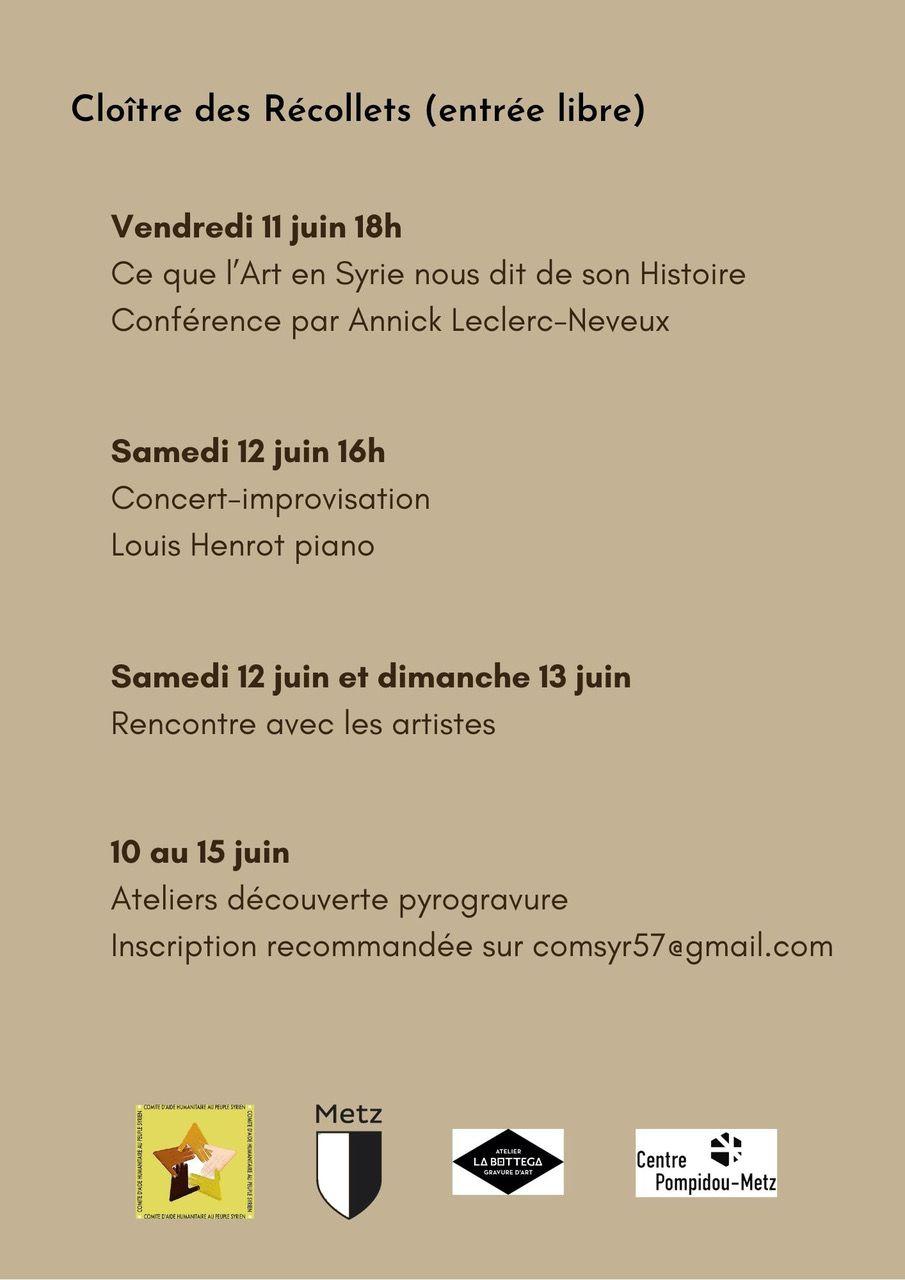 8e Anniversaire de la Charte d'Amitié Metz-Alep : tout le programme