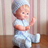 tuto gratuit poupée : chaussons très faciles à réaliser - Chez Laramicelle