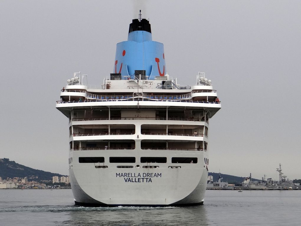 MARELLA  DREAM , arrivant au port de Toulon le 10 juin 2018