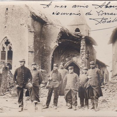 L'église en 1915. Carte-photo du soldat Biesser
