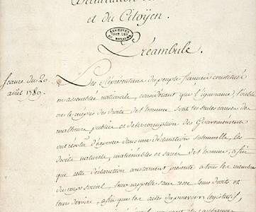 La Déclaration des Droits de l'Homme et du Citoyen (2nde B/C)