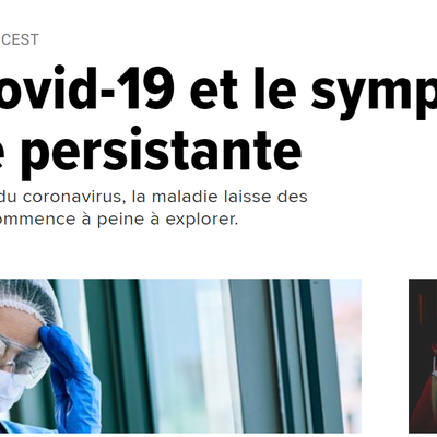 Article 18 Septembre 2020 - Huffington Post - L'après Covid-19 et le symptôme de la fatigue persistante