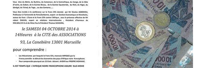 04/10/14 - Grande conférence sur le Franc CFA - Marseille