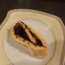 Gâteau roulé à la confiture de pruneaux Longuesserre