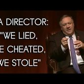 Ex-CIA director Pompeo: 'We lied, we cheated, we stole'