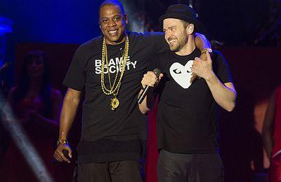Justin au concert de Jay-Z ce soir à Brooklyn!
