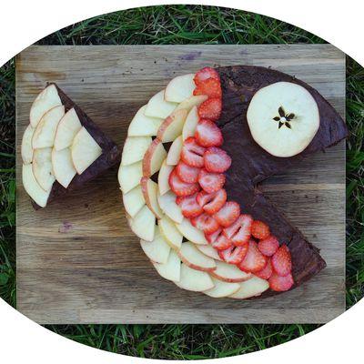 Gâteau poisson au chocolat & fruits - IG Bas