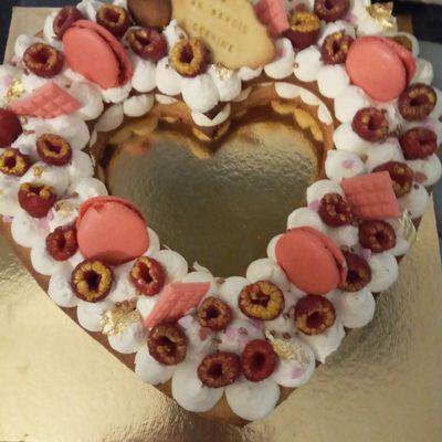 Number Cake Coeur