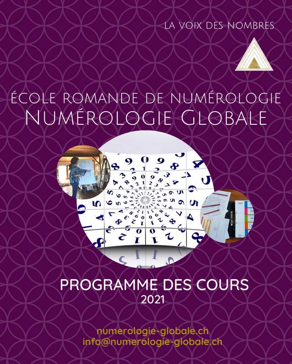 Programme des cours de l'Ecole Romande de Numérologie