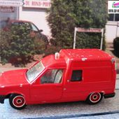 RENAULT 5 EXPRESS VEHICULE DE POMPIERS SOLIDO 1/43 - car-collector.net