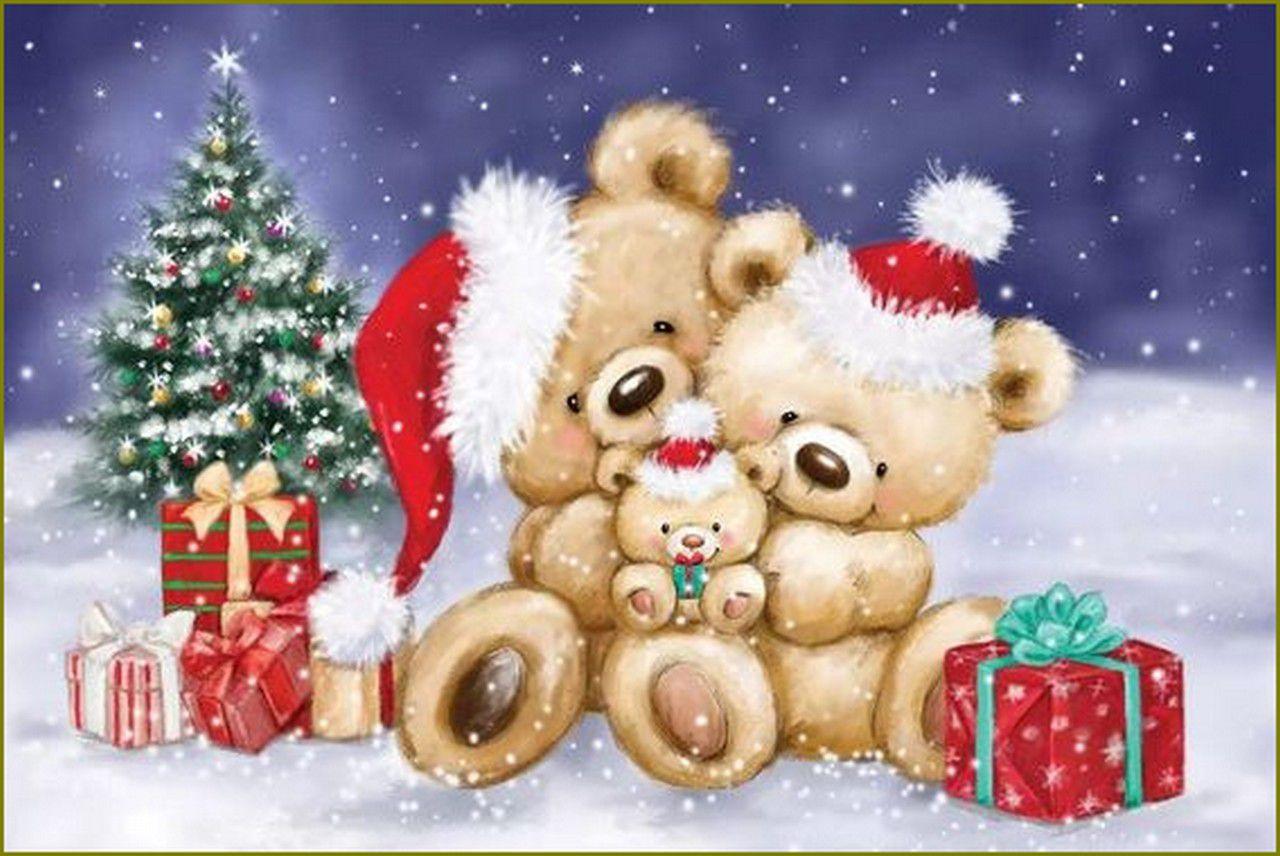 ours et oursons en peinture et illustrations - Makiko