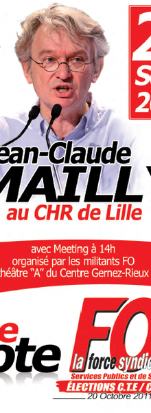 Meeting FO, J.C. Mailly