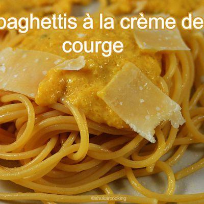 Spaghetti à la crème de courge
