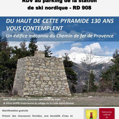 affiche visite guidé le 7 août la Colle St Michel