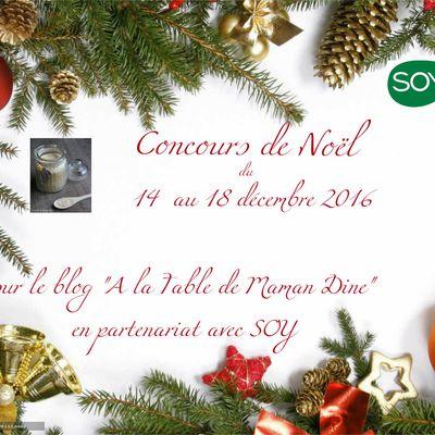 Concours de Noël en partenariat avec SOY