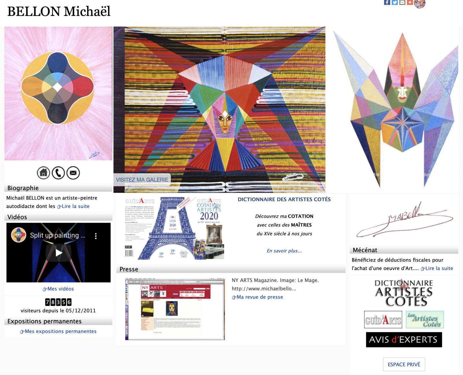 Michaël BELLON/Dictionnaire..: Artiste-peintre