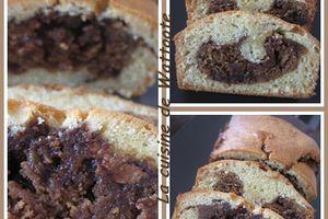 Gâteau marbré au pralin