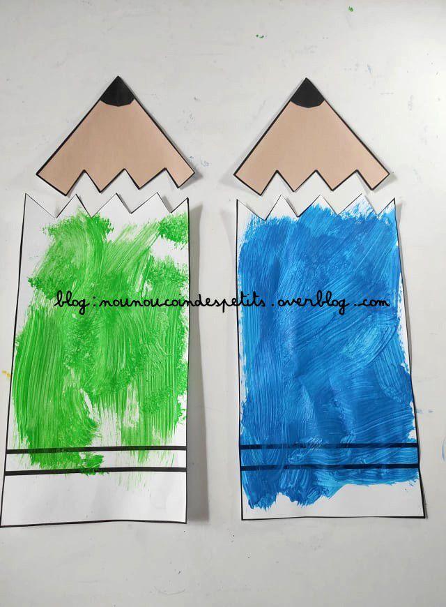 .. Bricolage enfant Crayon de couleur ..
