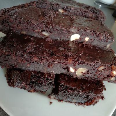 Brownie au tofu soyeux  sans gluten et sans produit laitier animal