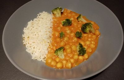 Curry de pois chiches (companion ou pas)