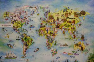 Carte du monde pour enfant