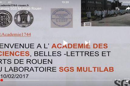 l'Academie des Sciences et Belles Lettres & Arts de Rouen nous a rendu visite au Laboratoire : extraits en vidéo