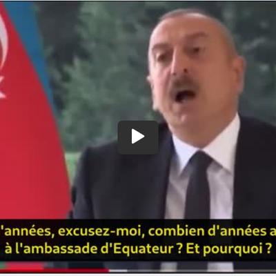 Le président de l'Azerbaïdjan mouche une journaliste sur la #liberté d'expression et la liberté médiatique.