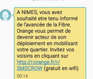 La Fibre Orange à Villeverte Nîmes ? s'inscrire ?