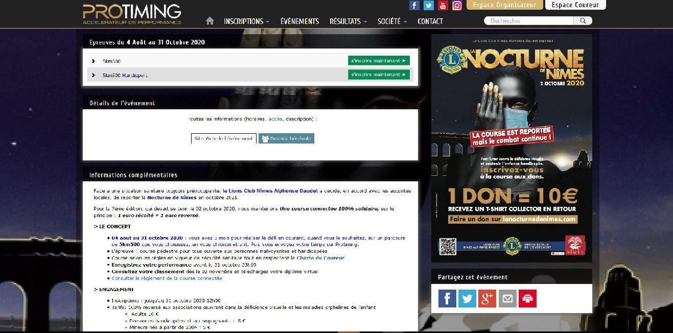 La nocturne de Nimes, Lions club, Alphonse Daudet