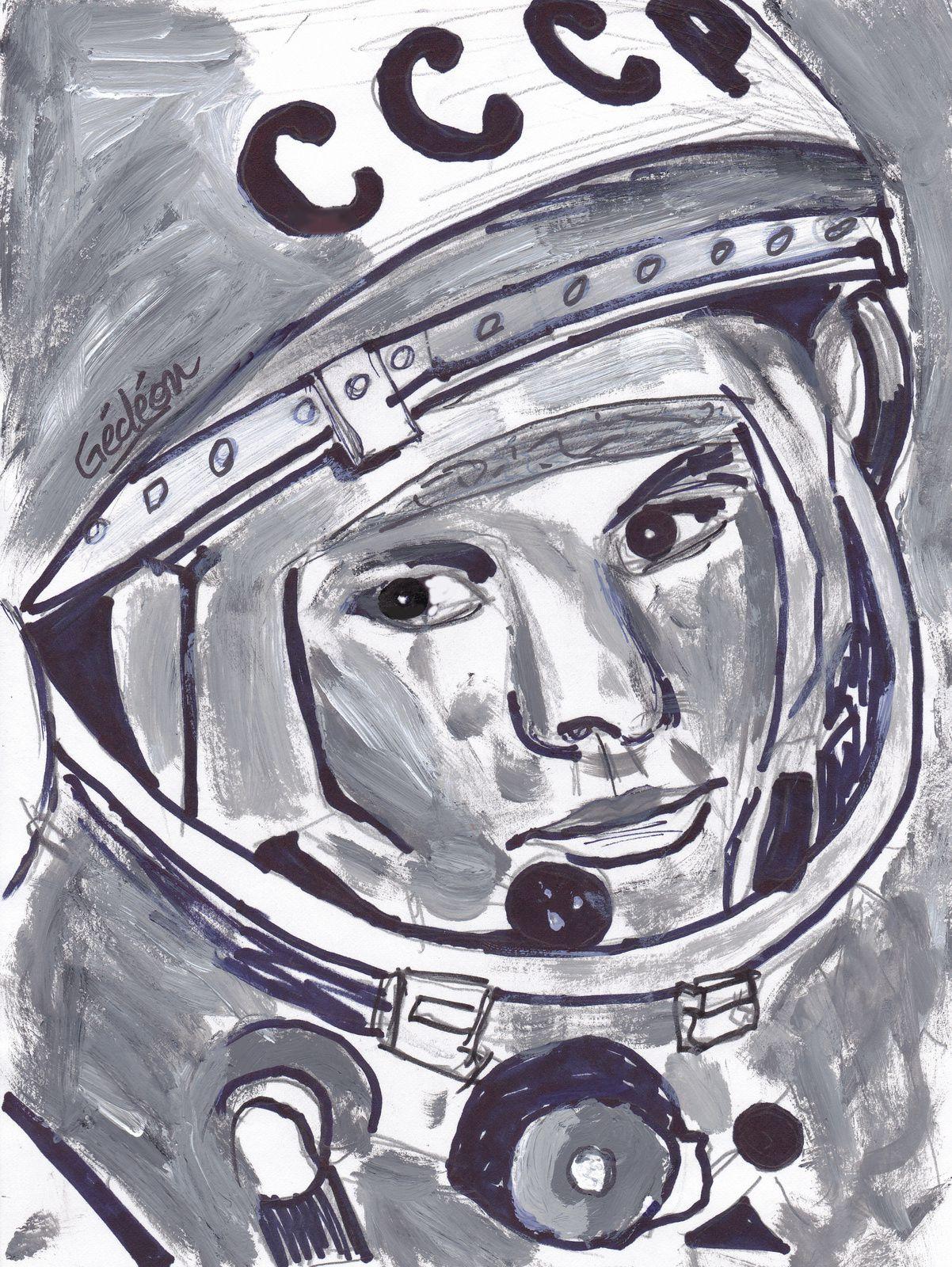 Gagarine - Premier homme dans l'espace - First in space - 60 ans - 12 avril 1961 - Iouri ou Youri - URSS - Vol habité - Première orbite