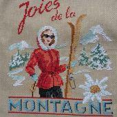 """Broderie: Torchon """"Les joies de la montagne"""" (2017-6) - le blog patoupassions"""