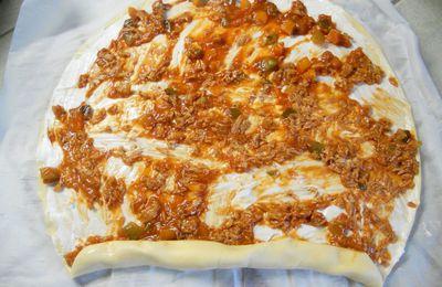 Roulé au thon et au fromage