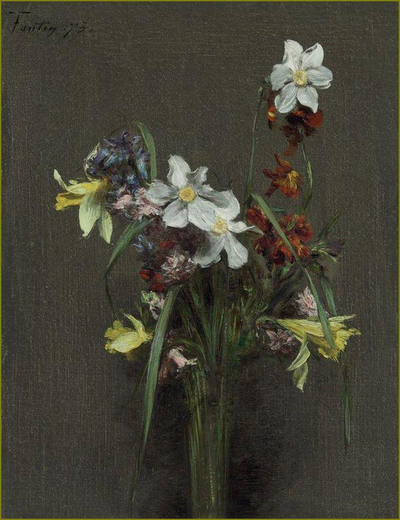 Henri Fantin-Latour (1836-1904) Fleurs de printemps et narcisses 1873