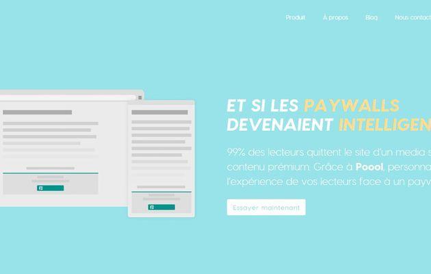 Start-up : POOOL, spécialiste du  paywall dynamique, lève 500 K€