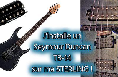 J'installe un Seymour Duncan TB14 sur ma guitare STERLING